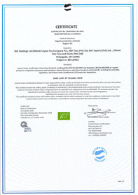 Organic certification  to Regulation (EC)  No 834/2007 and  Regulation